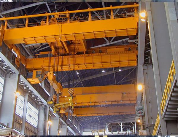 Double Beam Casting Crane Foundry Laddle For Steel Industry