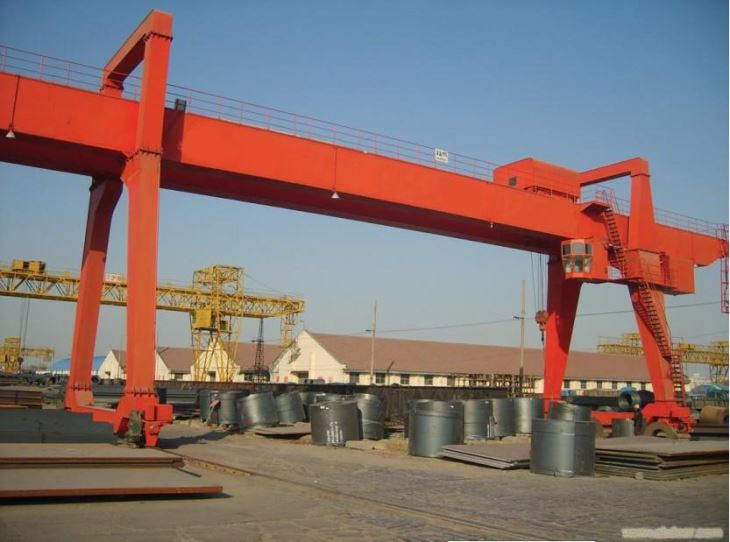 Double Girder For Heavy Lift Electric 80 Ton Gantry Crane