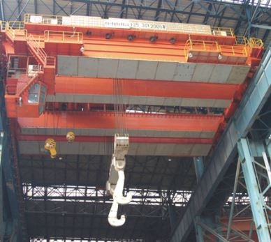 Big Capacity Overhead Crane For Foundry Iron Casting Level