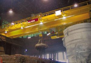 Double Girder Bridge Crane With Electromagnet