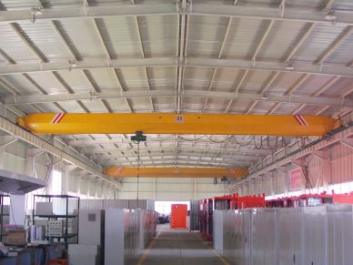 Electric Single Girder Overhead Bridge Crane With Best Spare Parts