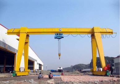 Factory Manufactured 10 Ton Electric Hoist Single Girder Gantry Crane