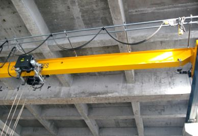 HD Type European Hoist Electric Single-girder Overhead Crane