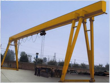 Light Duty Electric Hoist Single Girder Gantry Crane 10 Ton