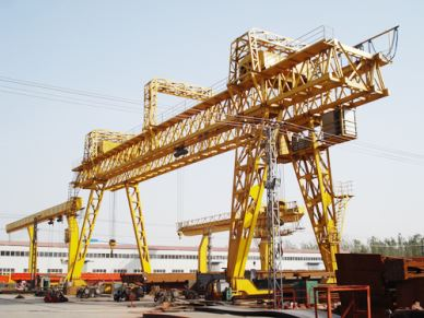 MG Model Truss Beam Double Girder Granite Gantry Crane In Bulgarian