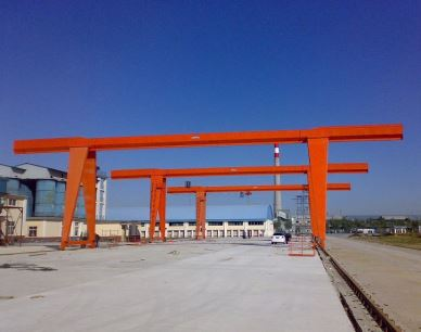 MH Light Duty Mobile Single Girder Gantry Crane 10 Ton