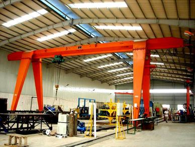 Outdoor 8T Hoist Single Girder Gantry Crane