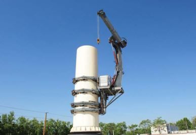 Self-Climbing Crane for Wind Turbine Maintenance
