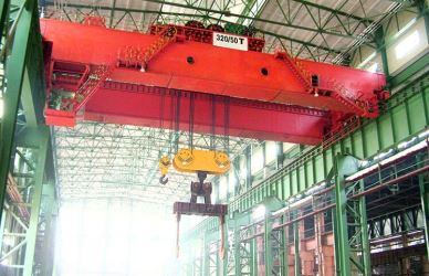 Steel Works Casting Double Girder Overhead Ladle Crane