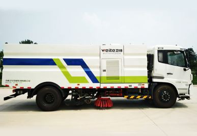 Street Sweeping and Washing Truck