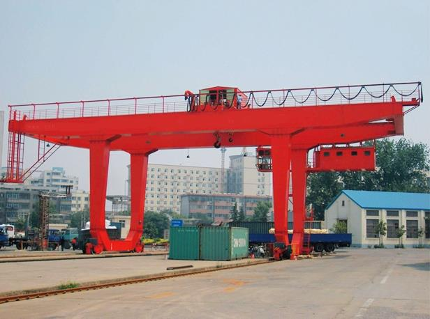 U Type New Design Movable 80 Ton Rail Mounted Gantry Crane